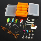 Sougayilang Fishing Lure Bait Set Kit with Fishing Tackle Box for Freshwater Saltwater Trout Bass Salmon Fish