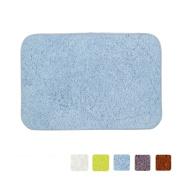 LOCHAS Bath Rug Shower Mat Anti-slip Super Soft Carpet Shaggy Comfortable Ideal for Bathroom, 60cm X 41cm , Grey-Blue