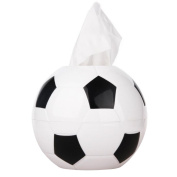 Kaimao Football Round Shaped Tissue Holder Box Cover Funny Toilet Paper Holder for Bathroom Office and Car