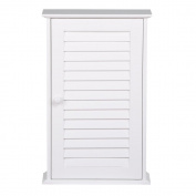 World Pride White Wood Bathroom Wall Mount Cabinet Toilet Medicine Storage Organiser Single Door with Adjustable Shelves