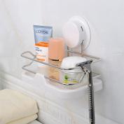 Garbath Suction Cup Bathroom Shower Caddy Storage Organiser, Easy to Instal, 260121