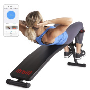 fitbill Sit Up Decline Bench with Face Recognition Technology and Coach Programme