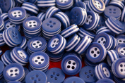 50 white and blue STRIPED BUTTONS - 5mm thick! - choose from sizes 18L 16L - great quality - Made in ITALY