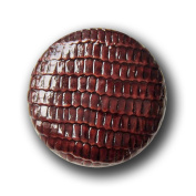 Button Paradise Sewing Buttons - Set of 5 Snake Leather Look Plastic Buttons, Washable, Lightweight, Low Price - Colour