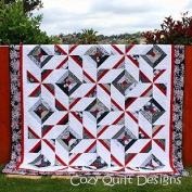 Pattern,Quilt,Cross Breeze, multi sizes, by Cosy Quilt Designs, 6.4cm Strips, Jelly Roll,
