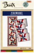 Pattern~Fireworks Table runner and Placemats Uses the Basix Template
