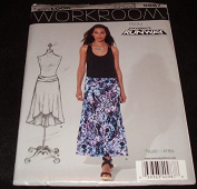 New Look 6269 0987 Misses Knit Long A-Line High Low Hem Skirt 8-18 Sewing ##books_n_more