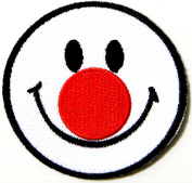 Joker Bozo Smile Face Funny Kid Baby Jacket T-shirt Patch Sew Iron on Embroidered Applique Sign Badge Costume Gift by PANICHA