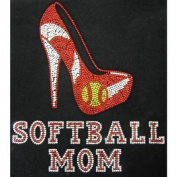 Softball Rhinestone Hot Fix Transfer Iron On Softball Team Tshirt Iron On Mom