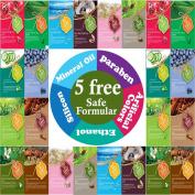 {Entel} 24 Pcs Combo-Pack, Premium Korean Essence Facial Mask Sheet (12 Types x 2 pcs), Five Chemical Free : No Paraben, No Silicon, No Mineral Oil, No Artificial Colours,No Ethanol