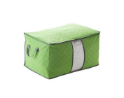Large Foldable Storage Bag Holder Box Bamboo Charcoal Clothing Quilt Storage Organiser Pouch