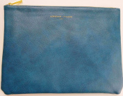 Adrienne Vittadini Studio Tech Pouch & Cosmetic Bag Teal Smooth