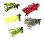 5 Pcs 7g /10g (30ml) /( 90ml) THKFISH Mixed Colour Fly Rubber Swim Bass Jig Fishing Lures