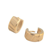 K-DESIGN : First Class Dull Polish Process Popular Stud Earring Fashion Unique Design For Modern Men And Women