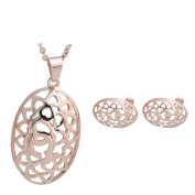 K-DESIGN : Unique Design Hollow Out African Fashion Sets Stainless Steel Set