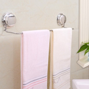 Garbath Suction Cup Towel Bar, Electroplated, Silvery, Easy to Instal, 260033