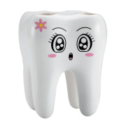 Ehonestbuy Cartoon Tooth Style Toothbrush Holder, Cute Gift for Your Kids,Girlfriend