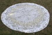 Indian Mandala Round Roundie Picnic Throw Tapestry, Hippy Boho Gypsy Cotton Tablecloth Beach Towel, Round Yoga Mat 180cm