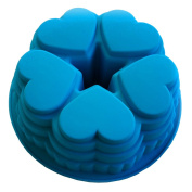 VolksRose Silicone Mould for Chocolate, Jelly and Candy etc - Random colours - 5 Heart