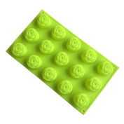 VolksRose Silicone Mould for Chocolate, Jelly and Candy etc - Random colours - 15 Rose Flowers
