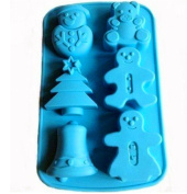 VolksRose Silicone Mould for Chocolate, Jelly and Candy etc - Random colours-Socks Snowman Christmas Cute Bear Christmas Tree