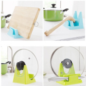 Ecosin Fashion Spoon Rack Rest Pot Pan Lid Rack Stand Holder Kitchen Cooking Utensil Tool