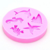 Seahorse, Sea Animals and Seashells Silicone Mould - Custom Decorating Mats and Moulds from Bakell