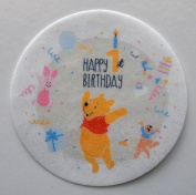 Winnie The Pooh 1st Birthday Edible Wafer Cupcake / Cookie Toppers Licenced by Decopac ~ Pre Cut 6.4cm Round BUY TWO GET THIRD FREE!