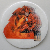 The Flash Edible Wafer Cupcake / Cookie Toppers Licenced by Decopac ~ Pre Cut 6.4cm Round BUY TWO GET THIRD FREE!