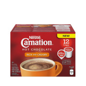 CARNATION Rich Hot Chocolate, KEURIG K-CUP Compatible Pods, 12x15g