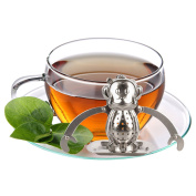 Best Utensils Monkey Tea Infuser and Drip Tray Food Grade Stainless Steel Tea Infusers Animal Tea Strainer For Loose Tea With Drip Tray Set