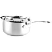 Sabre Cookware Professional Grade 5-Ply Stainless Steel Saucepan with Lid, 5.2l, Silver