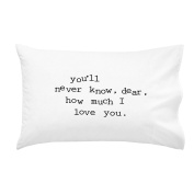 Oh, Susannah you'll never know, dear, how much I love you. Black Font. 50cm x 80cm You Are My Sunshine Pillowcase