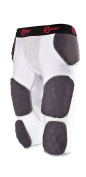 Cramer Thunder 7 Pad Football Girdle With Integrated Hip, Thigh and Tailbone Pads, Designed for Protection from High Impacts, High Hip Pad Coverage, Extra Thigh Protection Padding, White or Grey