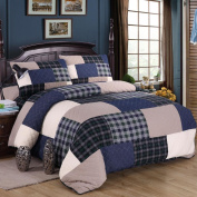 mixinni Cotton Reversible Printed Bedding 3 Piece Bedspread Quilt Set With Shams-