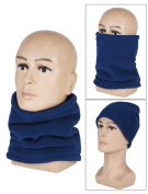Fall Winter Sports Headwear Thermal Thicken Fleece Balaclava Hood Neck Tube Scarf Warmer Beanies Hat Face Mask for Ski Snowboard Cycling Motorcycle Camping Dog Walking and More Outdoor Activites