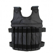 Yosoo 44LB/ 20KG Adjustable Weighted Vest Workout Exercise Boxing Training Fitness