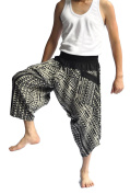 Siam Trendy Men's Japanese Style Pants One Size Black Triangle design