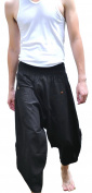 Siam Trendy Men's Japanese Style Pants One Size All Black
