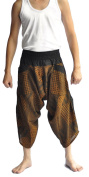 Siam Trendy Men's Japanese Style Pants One Size Brown with japanese Design