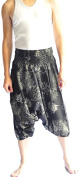 Siam Trendy Men's Japanese Style Pants One Size Black coral Design