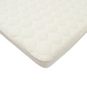 American Baby Company Natural Waterproof Quilted Bassinet Size Fitted Mattress Cover made with Organic Cotton