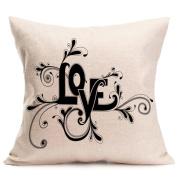 Home Decor HomeTom Linen Cushion Cover Throw Waist Pillow Case