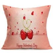 Home Decor HomeTom Lovers Painting Linen Cushion Cover Throw Waist Pillow Case