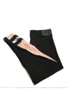 Victoria's Secret PINK Yoga Flat Legging Large Charcoal / Pink /white with logo print