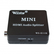 Wiistar HDMI Audio Extractor HDMI to HDMI and Optical TOSLINK SPDIF Coaxial + 3.5mm Stereo Splitter Converter for DVD HDTV PS4