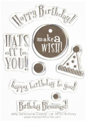 MSE Birthday My Sentiments Stamps Sheet, 7.6cm by 10cm , Clear