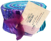 Benartex DANCE OF THE DRAGONFLY Pinwheel 6.4cm Quilting Strips Jelly Roll Fabric