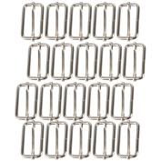 Metal Slides 38mm Triglides Buckles Roller Pin Webbing Belt Purse Hook Pack of 20