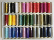 39 Assorted Colour 200 Yard Per Unit Advanced Polyester Sewing Thread Spool Set